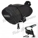 ROSWHEEL 13656 Cycling Bicycle Bike Saddle Seat Polyester Tail Bag - Black (1.3L)