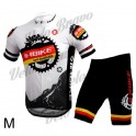 INBIKE Bicycle Cycling Short Sleeves Jersey + Bib Shorts Set - White + Black (Size-M)