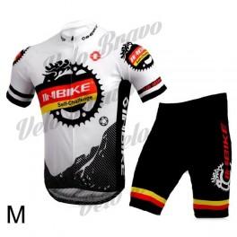 INBIKE Bicycle Cycling Short Sleeves Jersey + Bib Shorts Set - White + Black (Size-M)
