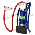 Portable Cycling Steel Single Barrel / Cylinder Foot Air Pump for Bicycle - Blue