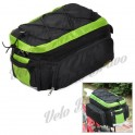 CoolChange 14031 Bicycle Water Resistant Seat Bag / Shoulder Bag - Green + Black
