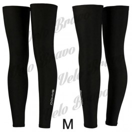 SAHOO 45618 Bike Cycling Leg Warmer Sleeve - Black (Size M / Pair)