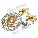 ZOOM Hollow-Out Bike Bicycle Mechanical Disc Brake Line - Yellow + Silver